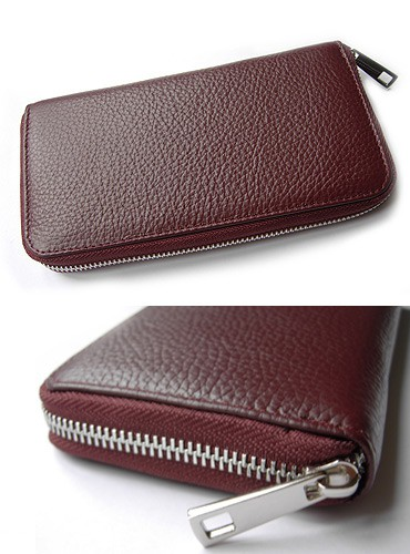 NEW STYLE: classy vintage geldbörse ona leather wallet red