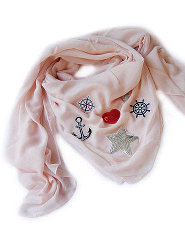 sugarpop: summer patch sailor look scarf apricot