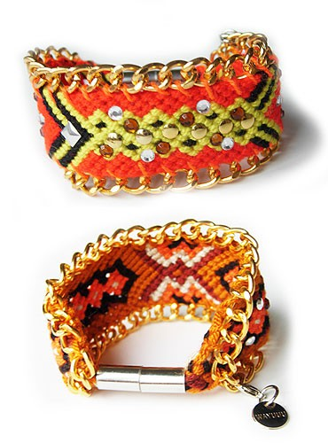 wayuuu: hippie chain armband small / multi sunrise